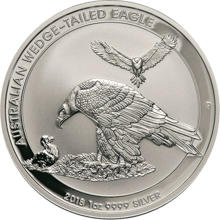 Silber Wedge Tailed Eagle 1 oz - 2018